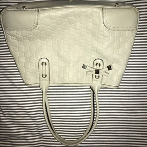 Gucci Ivory Guccissima Leather Princy Tote